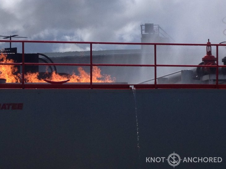 Helicopter Deck Fire