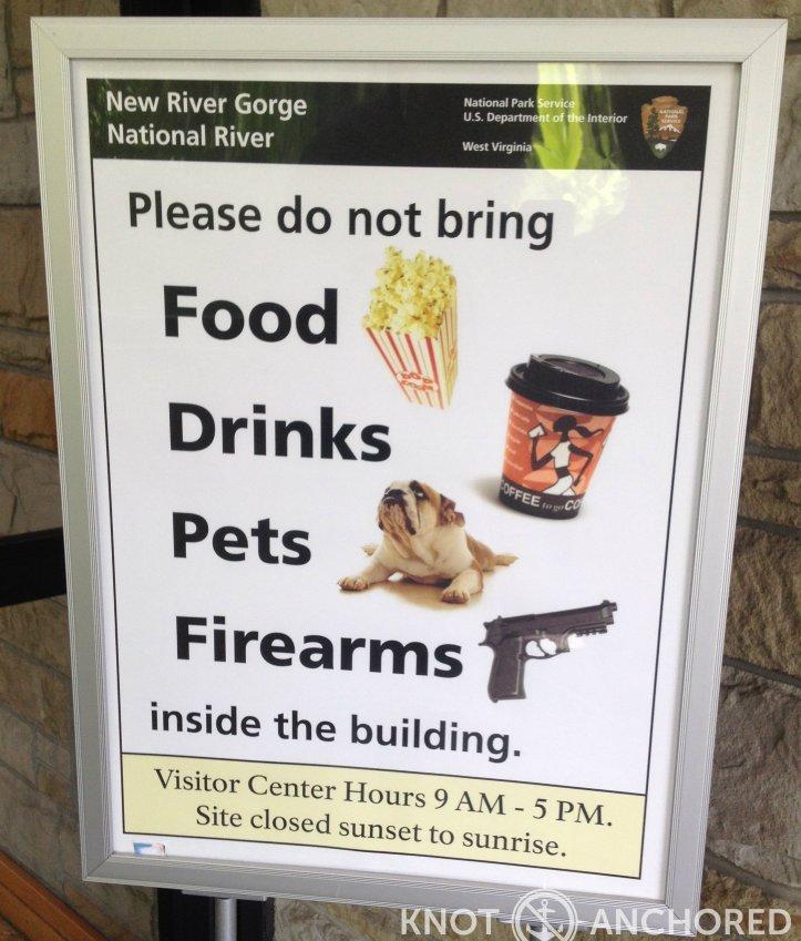 VA Visitor Ctr Warning