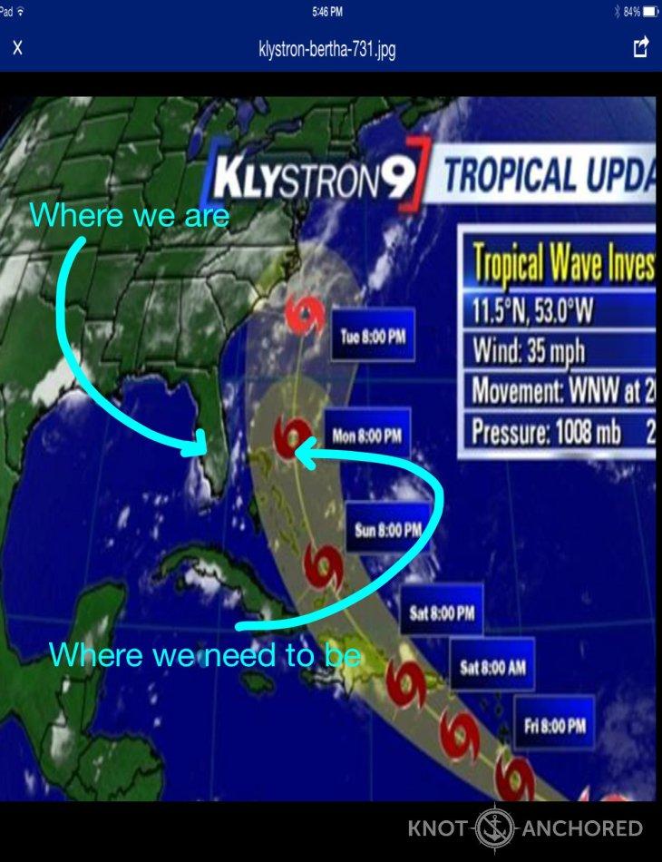 Tropical Storm Bertha Radar