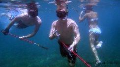 Spear fishing selfies