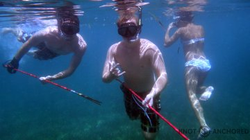 Spear fishing selfies