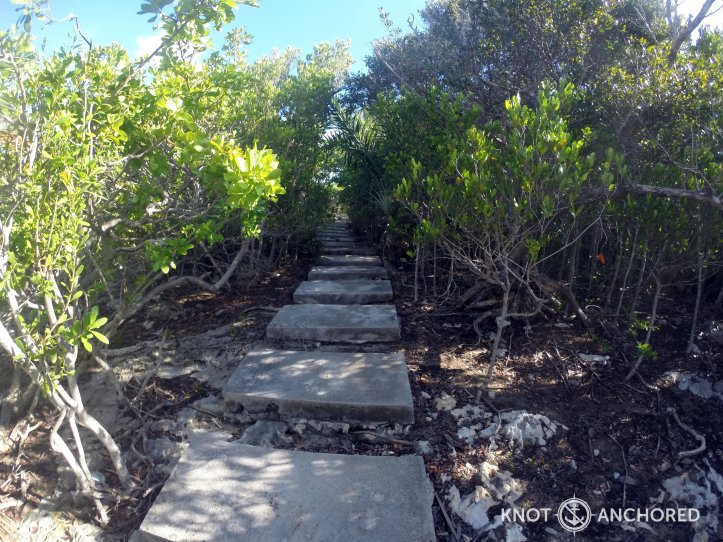 Steps to ruins