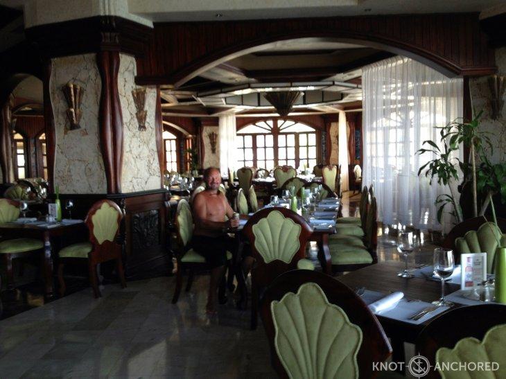 deserted dining room