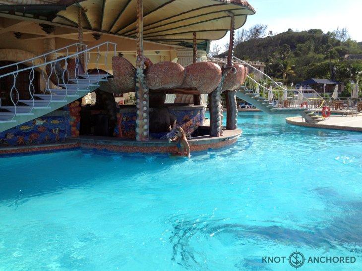 deserted swim up bar