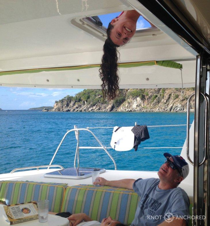 Just hangin around, upside down!