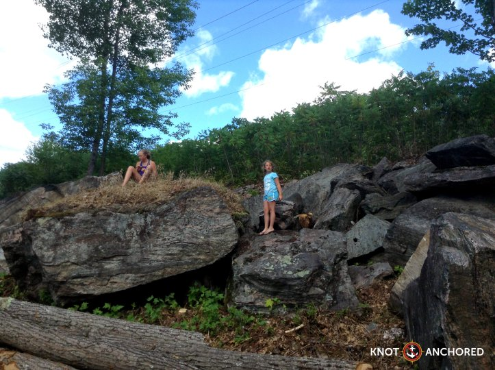 Huge rocks mixed in with little ones, lots to climb on!