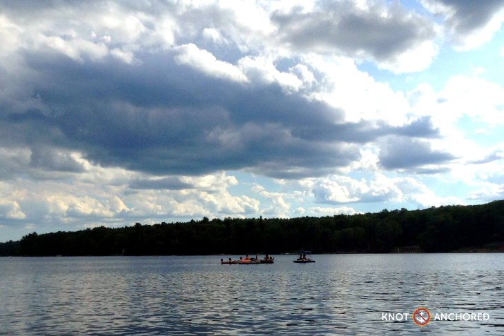 Summer raft up in cottage country
