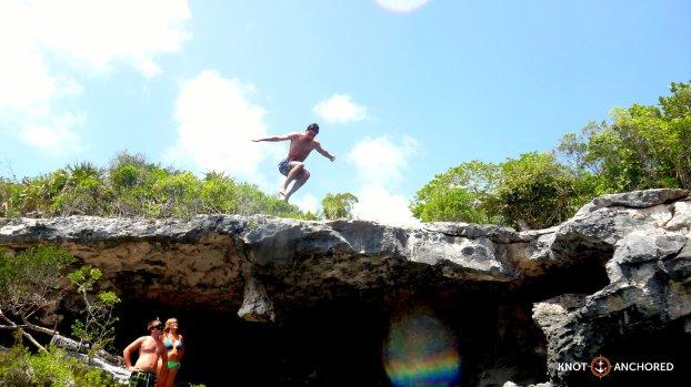 Jump into the Blue Hole Bahamas