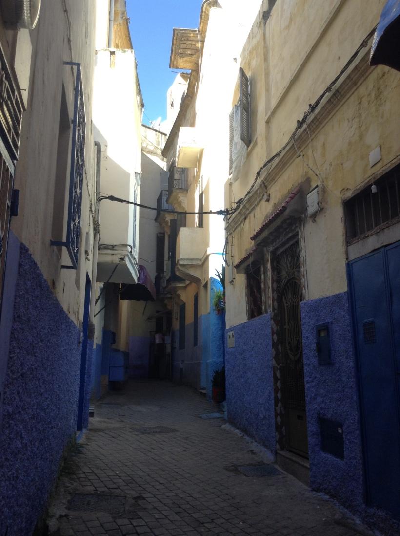 Medina, alley, blue, Morocco
