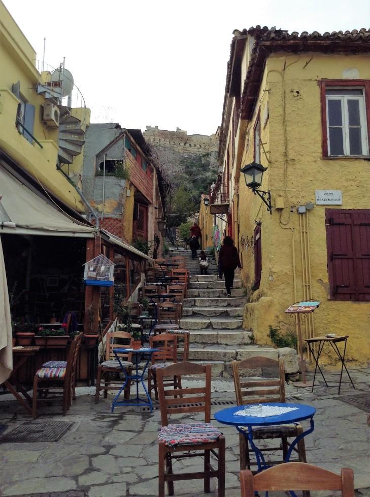 steep climb, acropolis, Athens