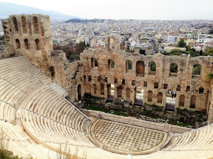 Theatre of Dionysus, Athens, Acropolis, Greece, ruins