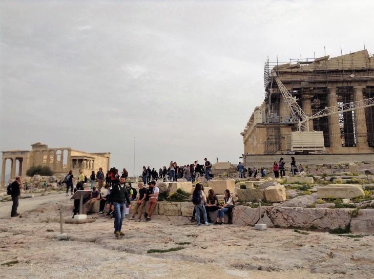 students, acropolis, history, parthenon