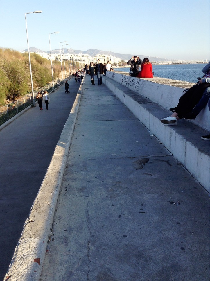 walkway, waterfront, Greece, Athens