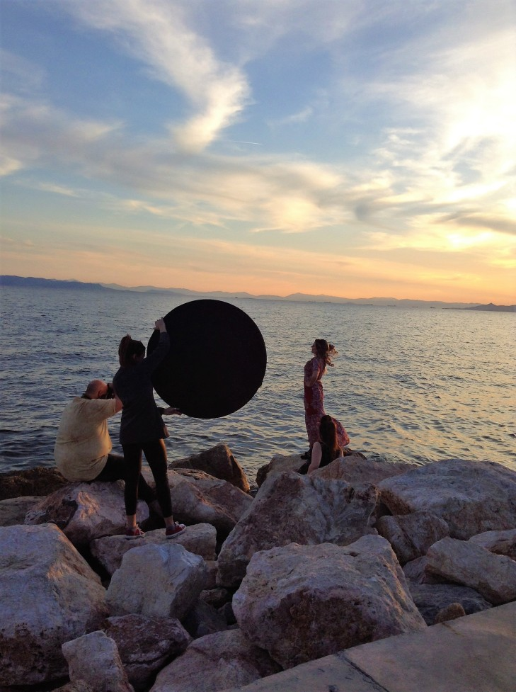 sunset, Greece, Athens, model shoot, seaside park