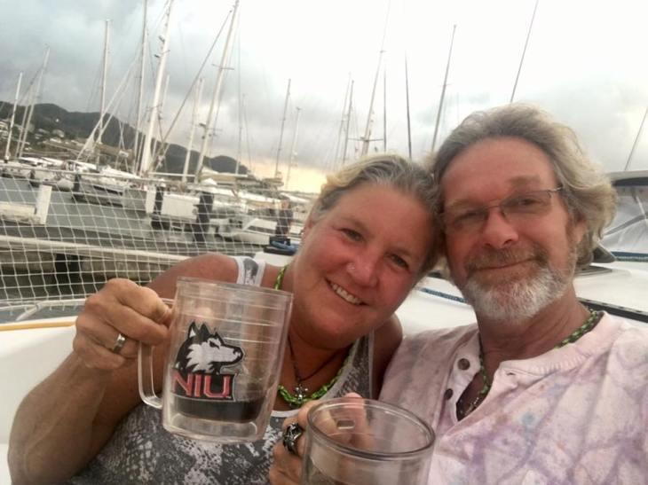 Steve and Darla in the marina
