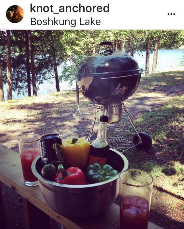 Bbq, outdoors, fresh vegetables, northern Ontario
