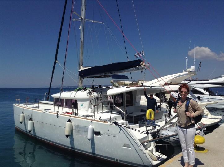 Catamaran, Greek Islands, sailing vacation, Ocean Propsperity