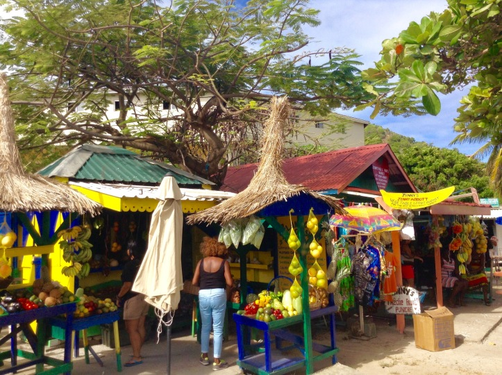 Fruit stands, marketplace, bananas