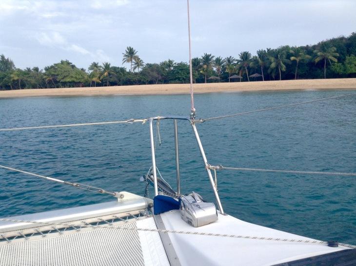 Catamaran trampoline, Saline Bay, Mayreau
