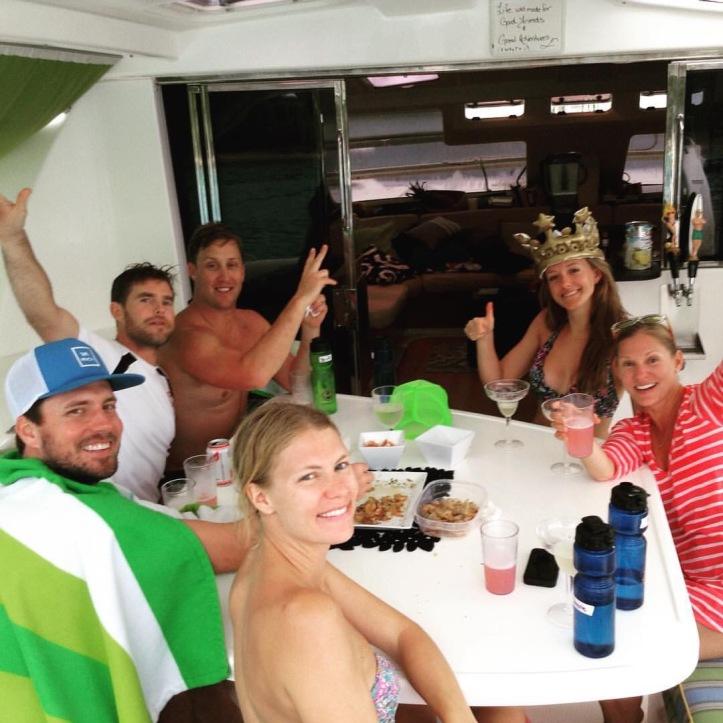 Catamaran charter, vacation, sailing, cheers