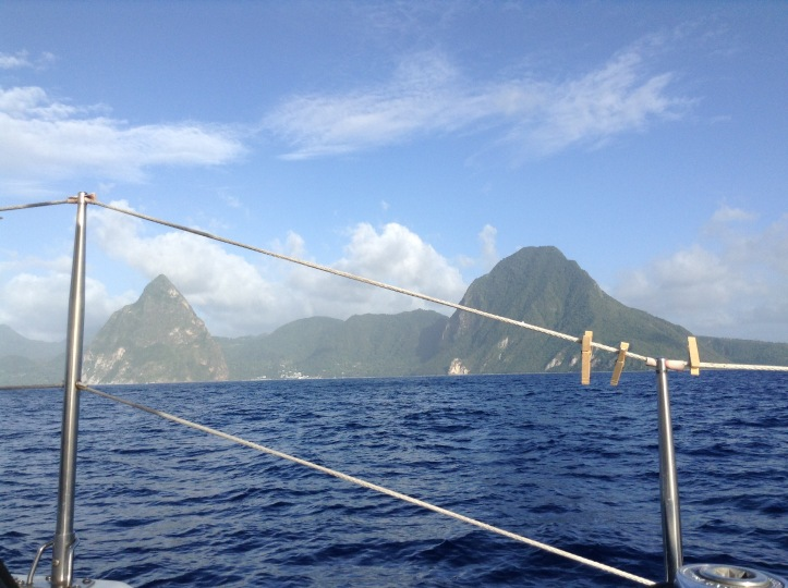 Pitons, St Lucia, sailing, blue water, lifeline