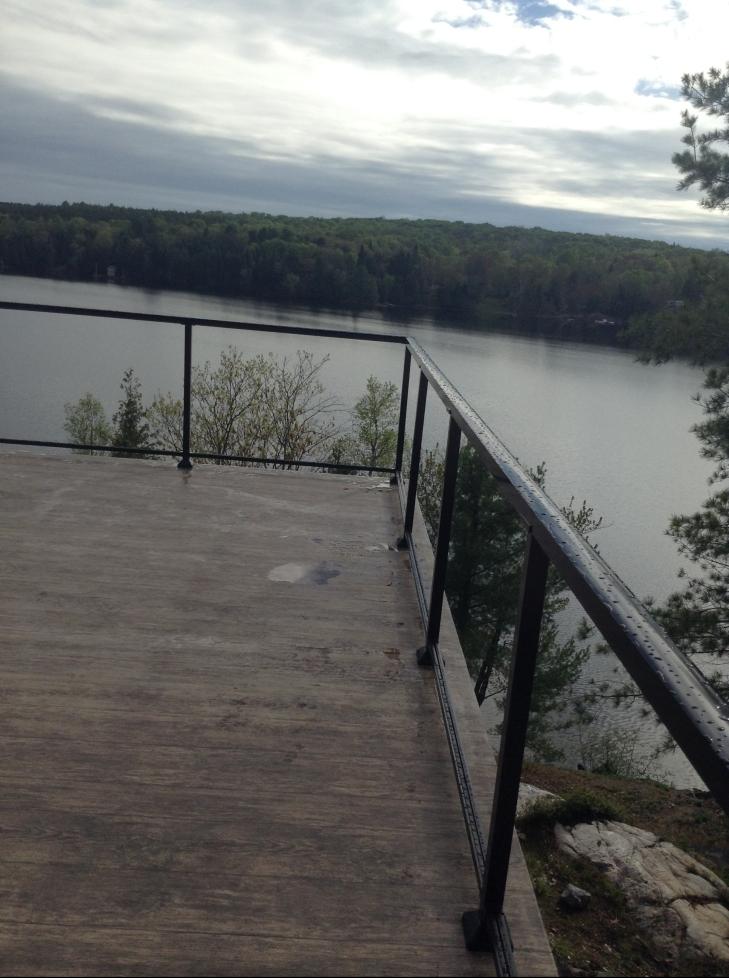Front deck railing
