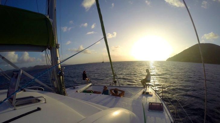 Catamaran-sunset-trampoline